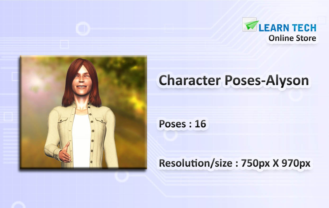 Alyson- Character Poses for training decks - Powerpoint and E learning Solutions