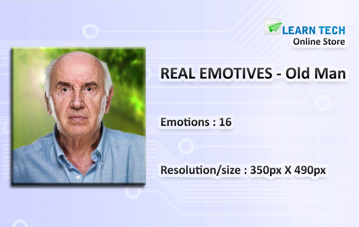 Old Man-Character emotions for training decks-PowerPoint-E learning