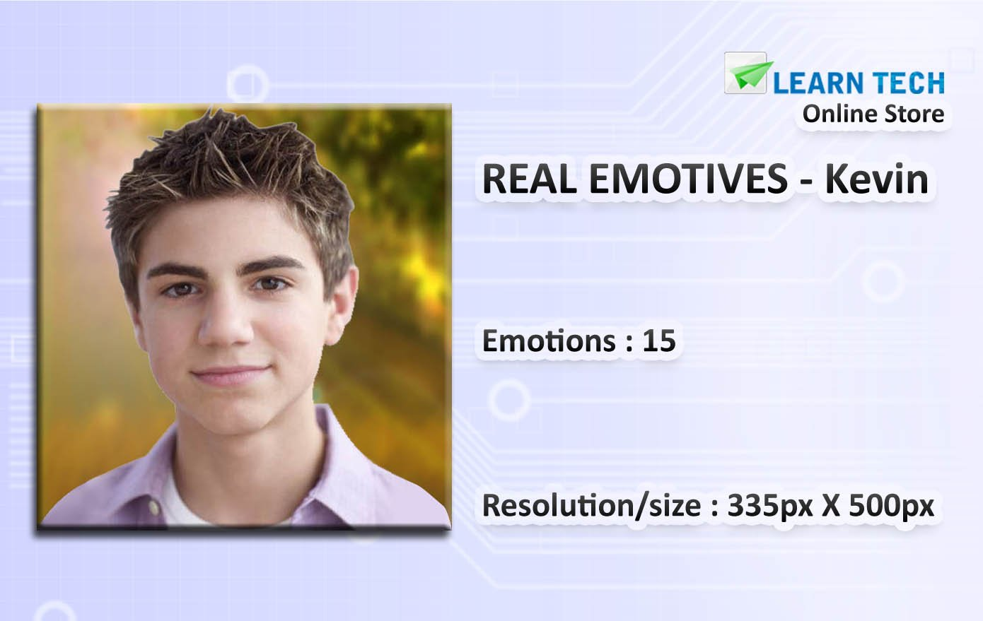 Characters with emotions for training decks - E learning Development