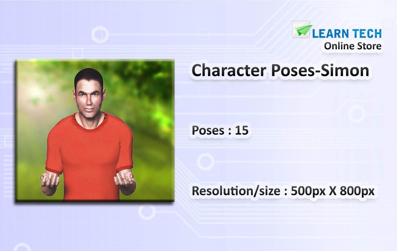 Character Poses - Simon - Character Poses for Training decks