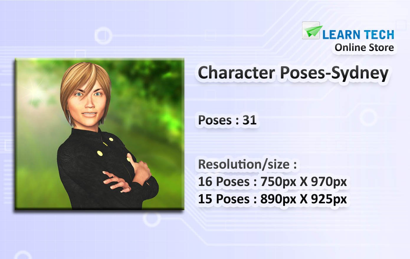 Character Poses for Training decks - PowerPoint - E learning development