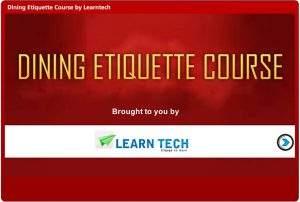 Dining Etiquette Course