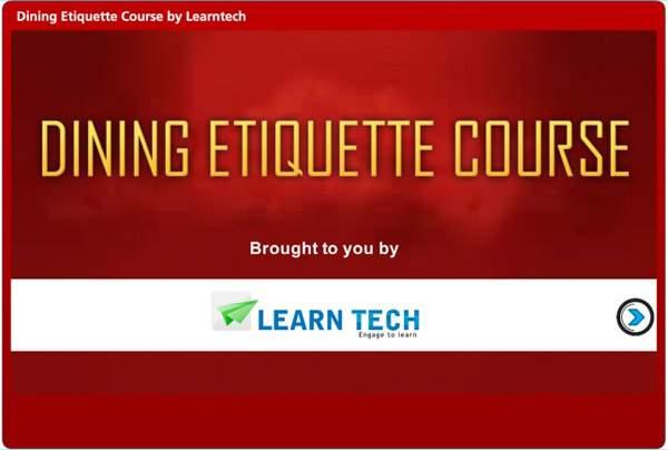 LearnTech – Digital Assessments - Dining Etiquette Course