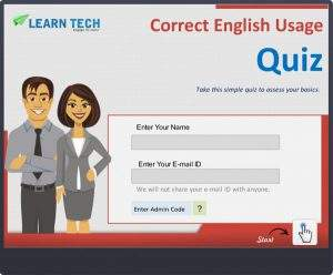 Correct English Usage Quiz