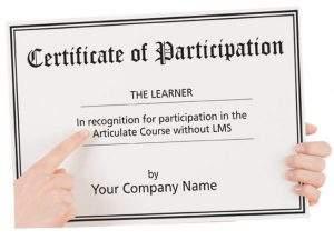 Articulate Widget : Certificate Widget