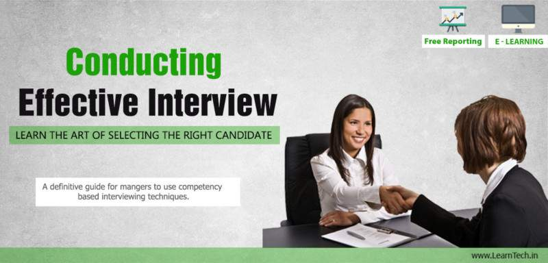 Conducting Effective Interview - Leadership Arsenal - off the shelf E learning