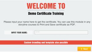 Learntech Demo Certificate