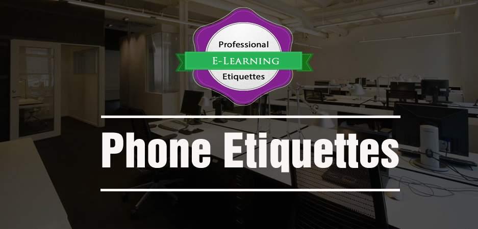 Phone Etiquettes - Etiquettes @Work - off the shelf E learning