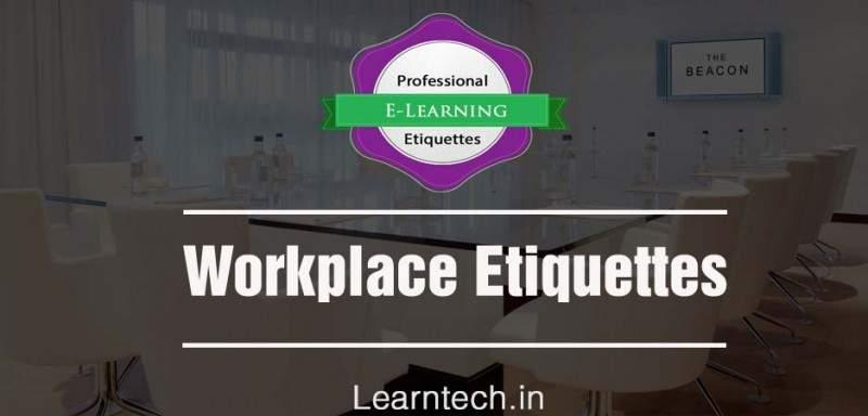 Workspace Etiquettes - Etiquettes @Work - off the shelf E learning