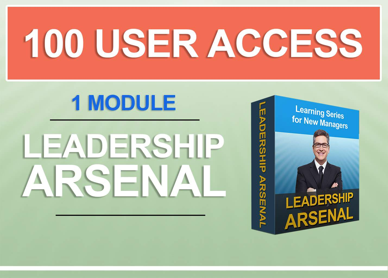 Cost of minimum 100 users -1 Premium E learning Module